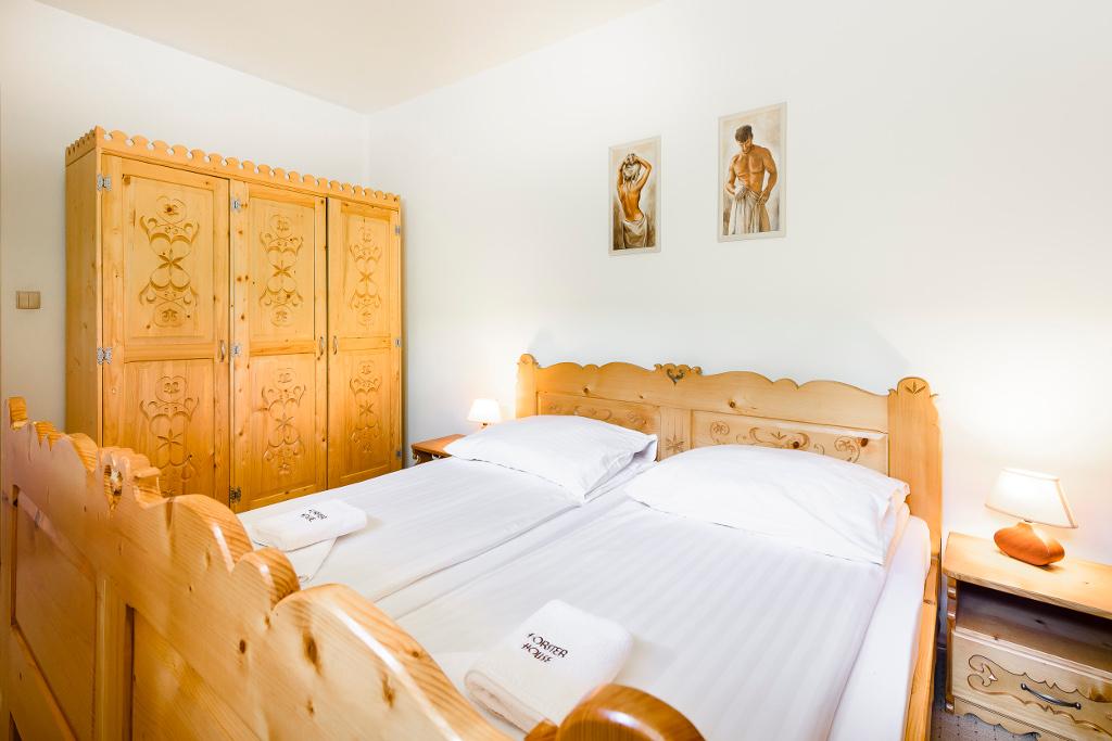sypialnia dwu osobowa - apartament nr 1 Forster House Zakopane