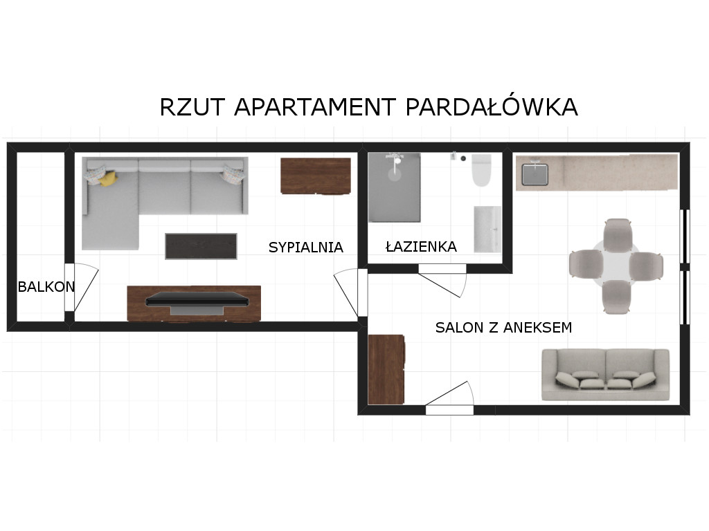 widok na apartament